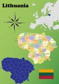 Lithuania maps — Stock Vector