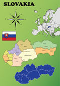 Slovakia maps — Stock Vector