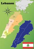 Lebanon maps — Stock Vector