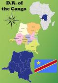 Democratic Republic of the Congo vector set. — Stock Vector