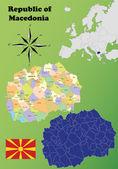 Republic of Macedonia maps — Stockvektor