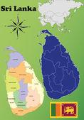Sri Lanka maps — Stock Vector