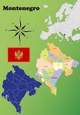 Montenegro maps — Stock Vector