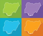 Colorful maps - Nigeria — Stock Vector