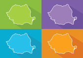 Colorful maps - Romania — Stockvektor