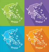 Colorful maps - Greece — Vettoriale Stock