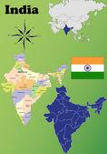India maps — Stock Vector