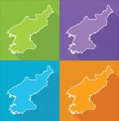 Colorful maps - North Korea — Cтоковый вектор