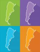 Colorful map - Argentina — Stock Vector
