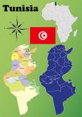 Tunisia maps — Stock Vector