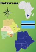 Botswana vector set. — Stock Vector