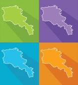Colorful maps - Armenia — Stock Vector