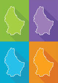 Colorful maps - Luxembourg — Stock Vector
