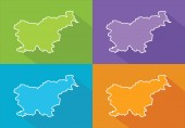 Colorful maps - Slovenia — Stock Vector