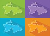 Colorful maps - Tajikistan — Stock Vector