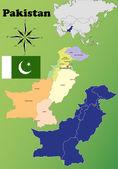 Pakistan maps — Stok Vektör