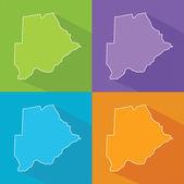 Colorful map - Botswana — Stock Vector