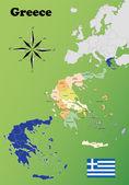 Grekland kartor — Stockvektor