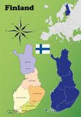 Finland maps — Stock Vector