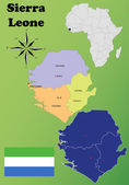 Sierra Leone maps — Stock Vector
