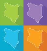 Colorful maps - Kenya — Stock Vector