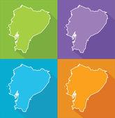 Colorful map - Ecuador — Stock Vector