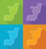 Colorful maps - Republic of the Congo — Stockvektor