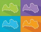 Colorful maps - Latvia — Stock Vector