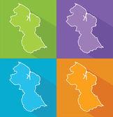 Colorful maps - Guyana — Stock Vector