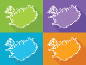 Colorful maps - Iceland — Wektor stockowy