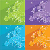 Colorful maps - Europe — Stock Vector
