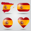 Spain flag set — Stock Vector #53108651