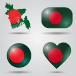 Постер, плакат: Bangladesh flag set