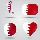 Bahrain flag set — Stock Vector