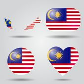 Malaysia flag set — Stock Vector