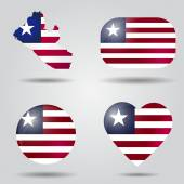 Liberia flag set — Stock Vector