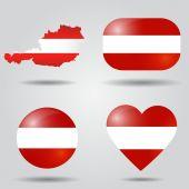 Austria flag set — Stock Vector
