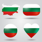 Bulgaria flag set — Stock Vector