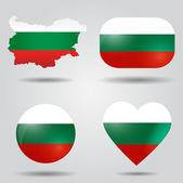 Bulgaria flag set — Stock Vector