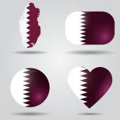 Qatar flag set — Stock Vector