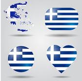 Greece flag set — Stock Vector