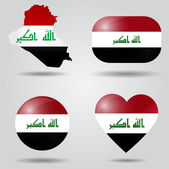 Iraq flag set — Stock Vector