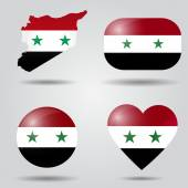 Syria flag set — Stock Vector