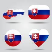 Slovakia flag set — Stock Vector