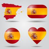 Spain flag set — Stock Vector
