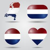 Netherlands flag set — Stock Vector