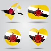 Brunei flag set — Stock Vector