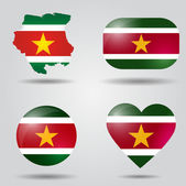 Suriname flag set — Stock Vector