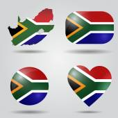South Africa flag set — Stock Vector