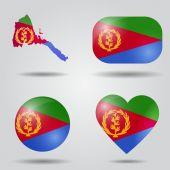 Eritrea flag set — Stock Vector